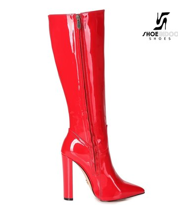 Giaro Giaro fashion knee boots TAKEN in red patent
