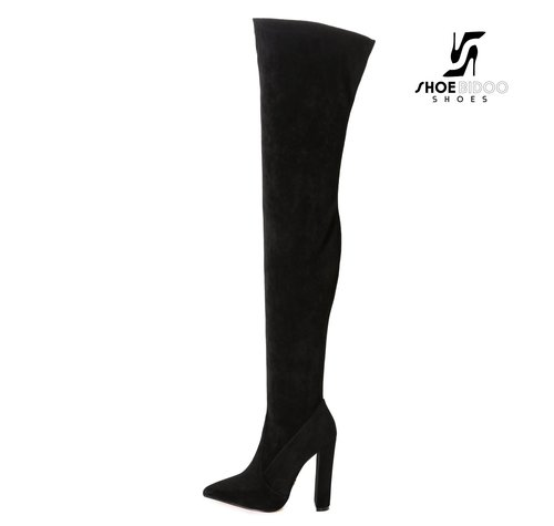 Giaro TRINKET | SCHWARZ SUEDE | FASHION THIGH BOOTS