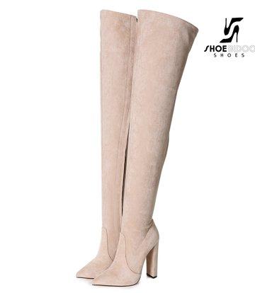 Giaro Giaro Oberschenkel Stiefel TRINKET in stone Suede
