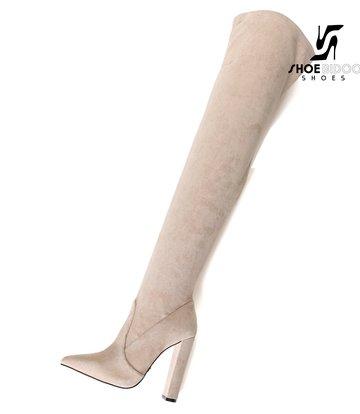 Giaro Giaro fashion thigh boots TRINKET in stone suede