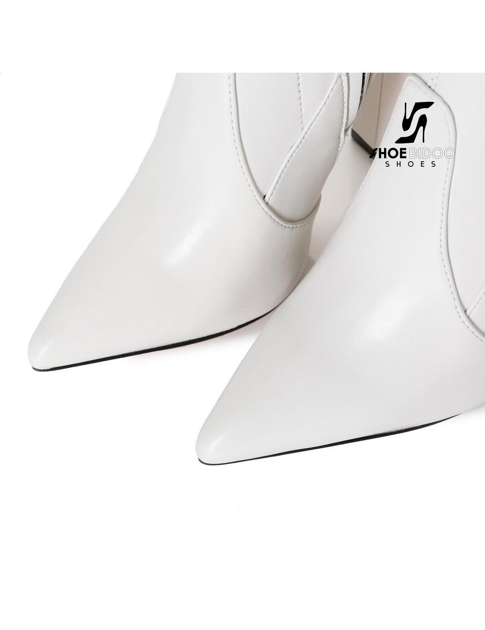 Giaro Giaro Oberschenkel Stiefel TRINKET in weiss Matte