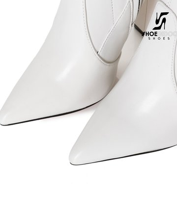 Giaro Giaro fashion thigh boots TRINKET in white matte