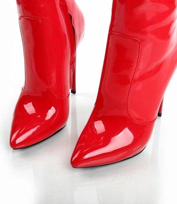 Giaro Lak rode Giaro knielaarzen met hoge hakken - OUTLET