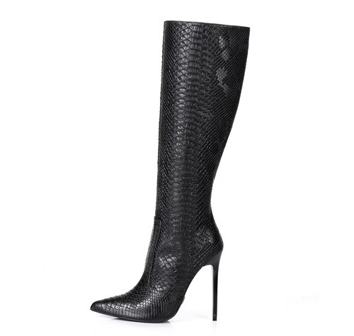 Giaro ZIRA | SNAKE BLACK | KNEE BOOTS -OUTLET