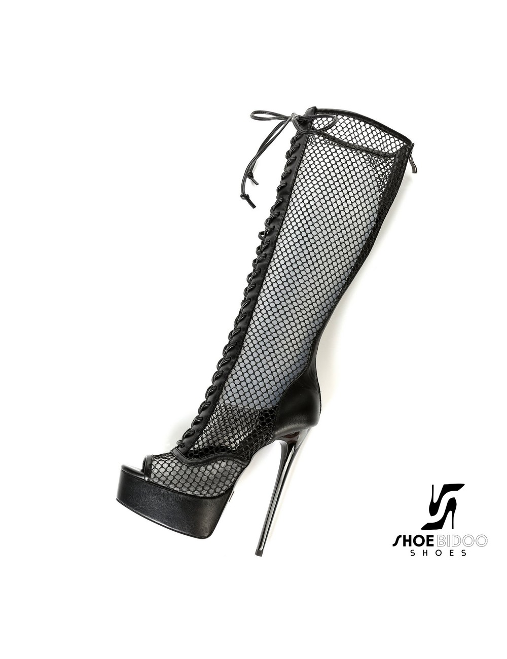 "Giaro Black MESHA Transparant Giaro ultra ""Galana"" knee boots"