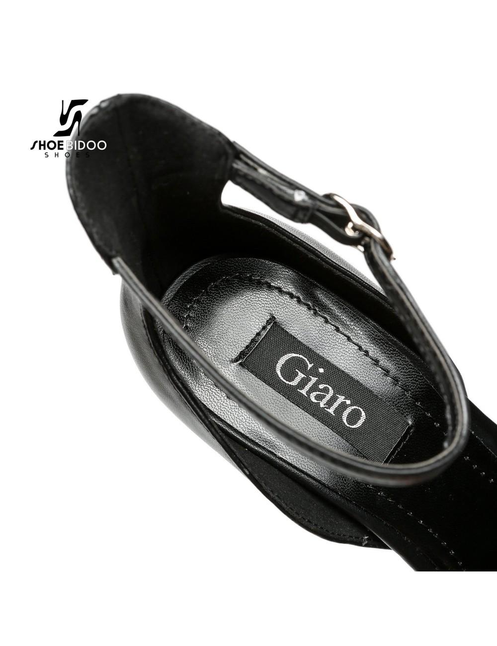 Giaro Zwarte Giaro MINA sandalen met hoge enkelriem