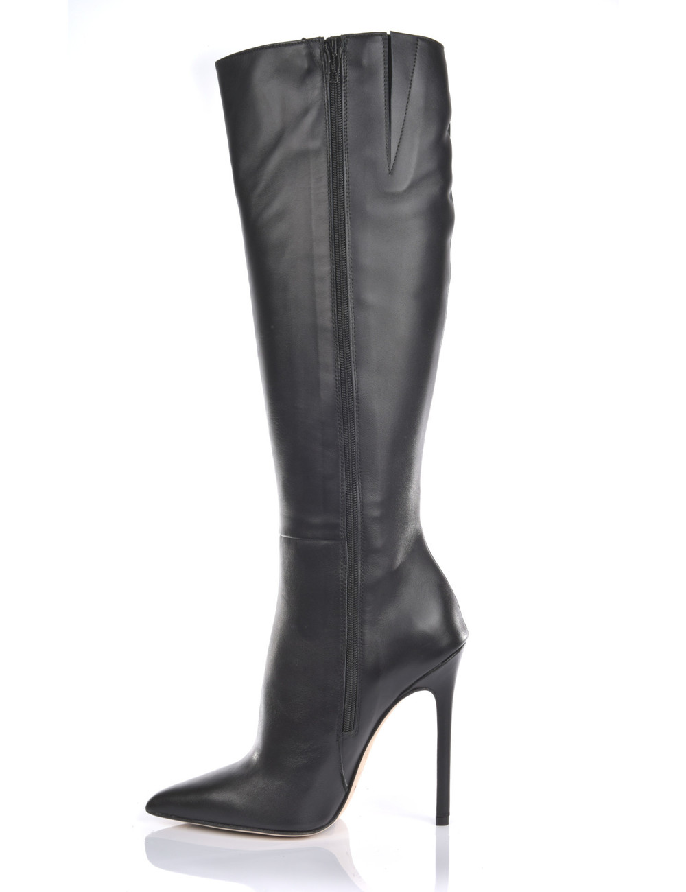 Sanctum High Italian knee boots VESTA with stiletto heels in real leather