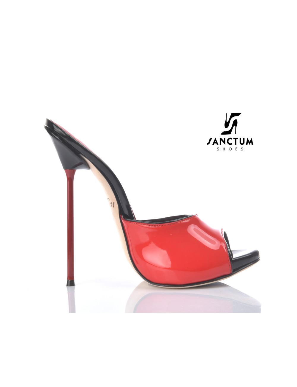 Sanctum Extreme high Italian mules MAIA with metal needle heels