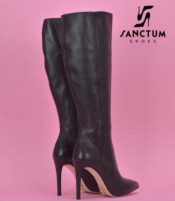 Sanctum High Italian knee boots VESTA with 10cm stiletto heels in genuine leather