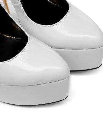 SLICK Witte matte ESSENCE Giaro SLICK platformpumps met enkelbandje
