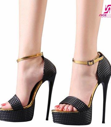 Giaro Zwart met goud Giaro platform sandalen
