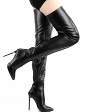 Giaro ELEGANCE 1004 | BLACK MATTE | THIGH HIGH BOOTS