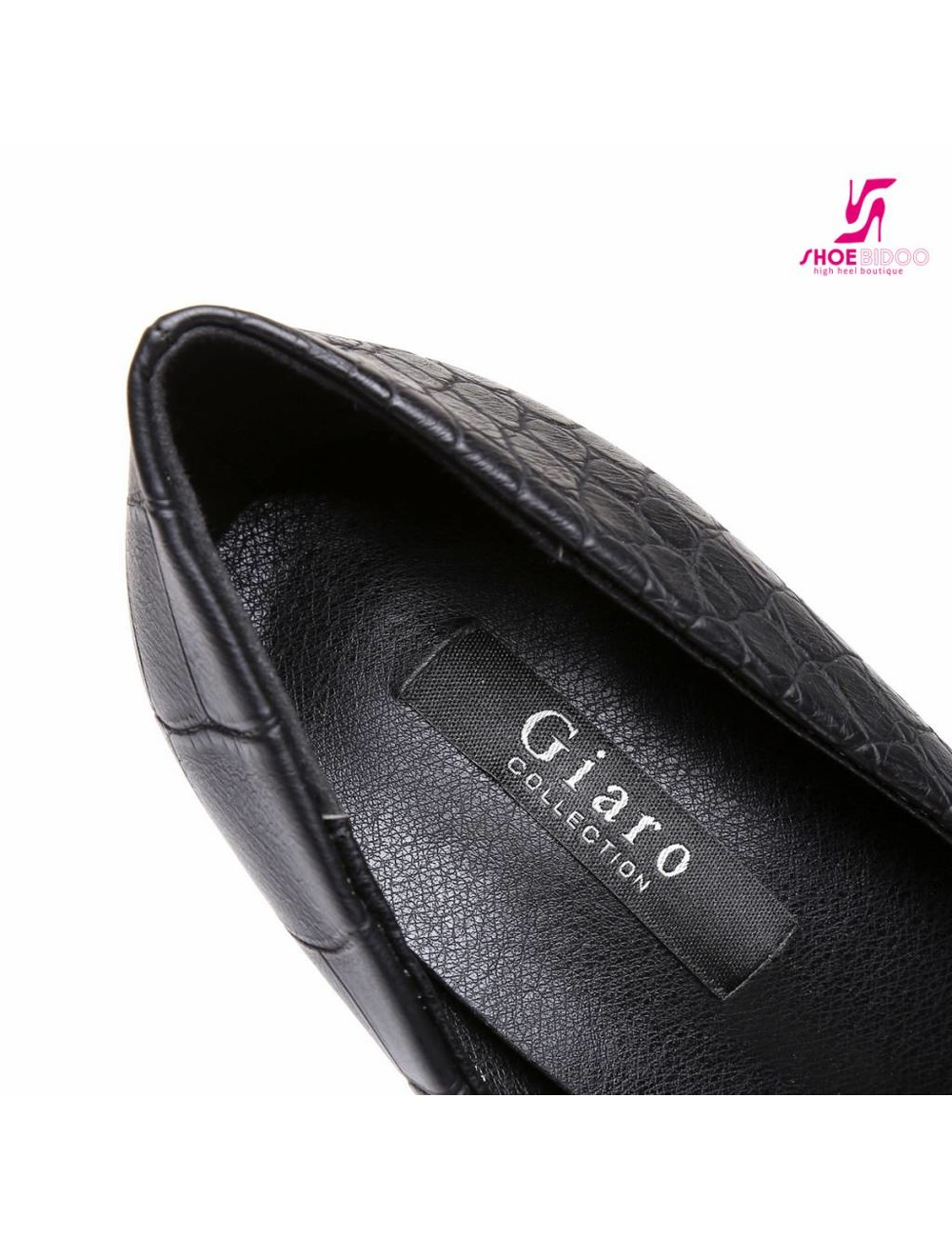 "Giaro Black croc Giaro ""Galana"" platform pumps"