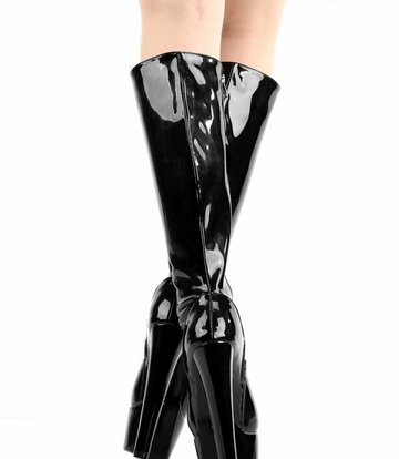 "Giaro Black shiny Giaro ""Destroyer"" knee boots"