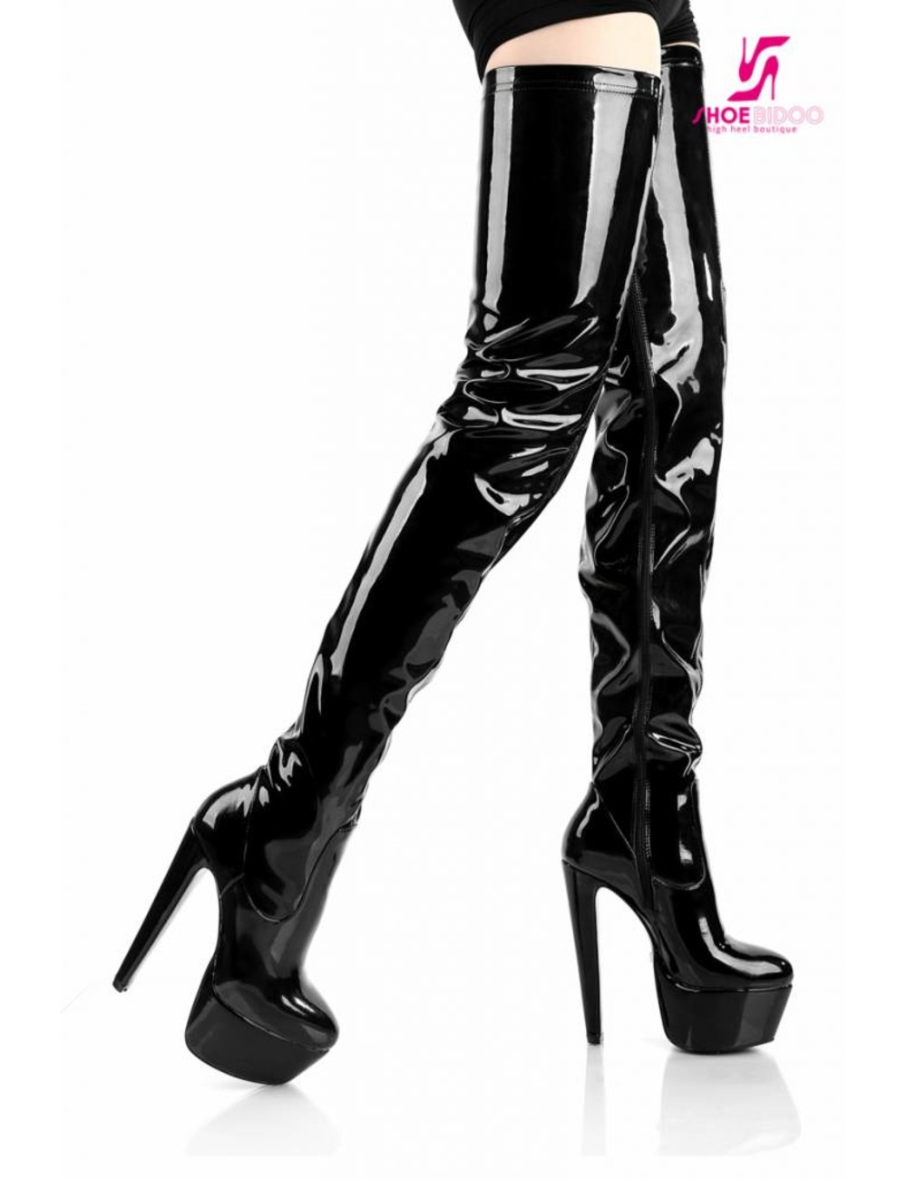 "Giaro Black shiny Giaro ""Destroyer Survivor"" thigh boots"