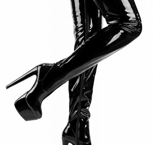 Giaro SURVIVOR | BLACK SHINY | PLATFORM THIGH BOOTS