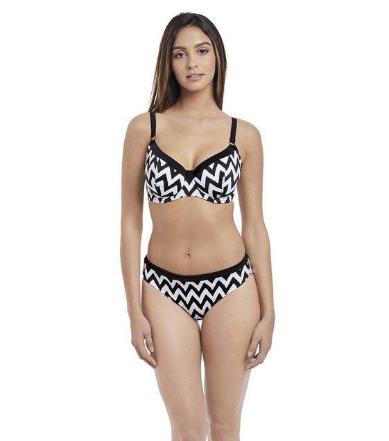 Freya Bikini Slip Making Waves AS2950 Zwart-Wit