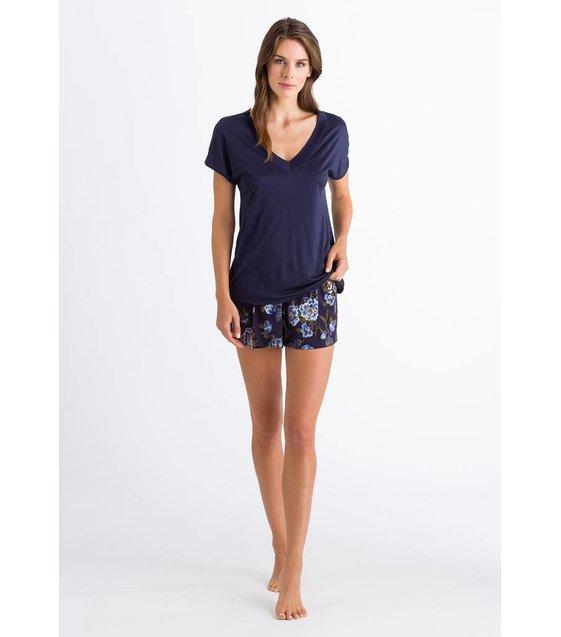 Hanro Shirt Zahra 076395 Crown Blue