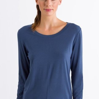 Hanro Shirt Yoga 077996 Riviera Blue
