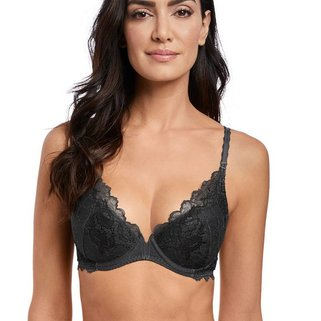Wacoal Push-Up BH Lace Perfection WE135003 Charcoal