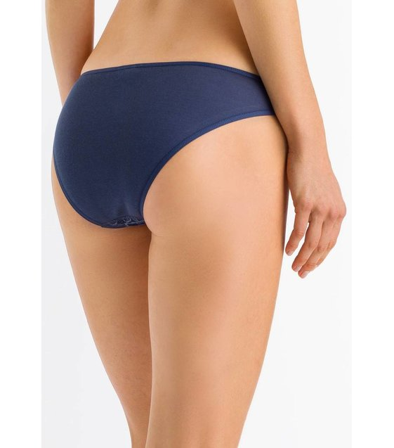 Hanro Slip Moments 071446 Horizon Blue
