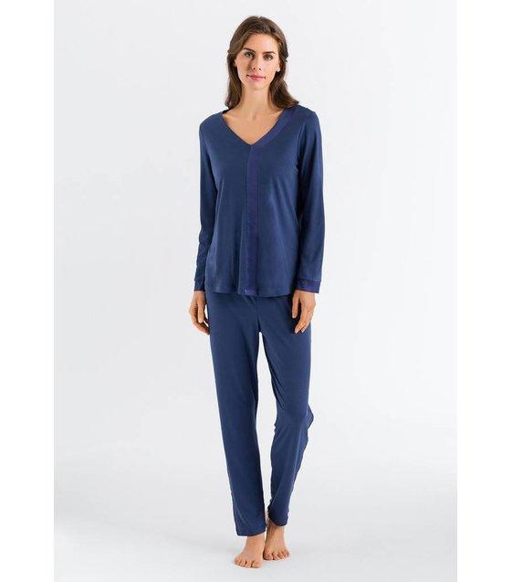 Hanro Pyjama Elara 076438 Blue Horizon