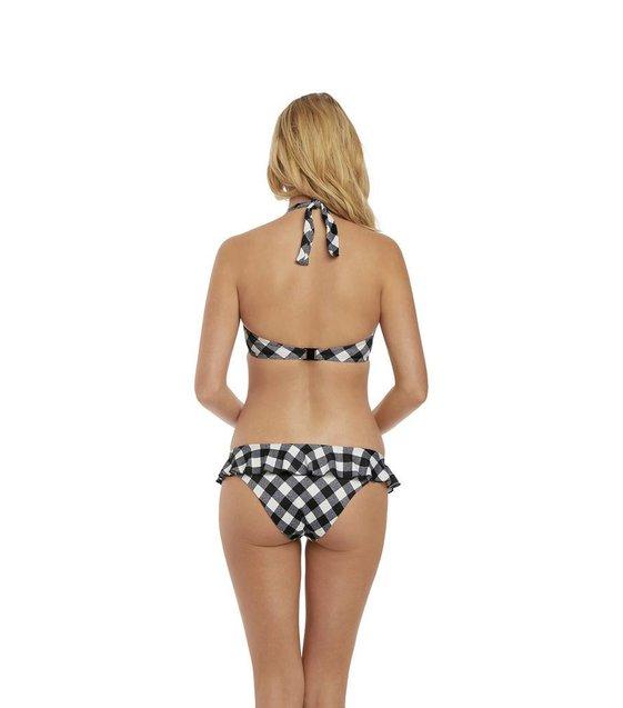 Freya Halter Bikini Top Totally Check AS2924 Monochrome