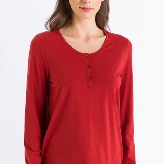 Hanro Shirt Sleep & Lounge 077610 Rusted Red