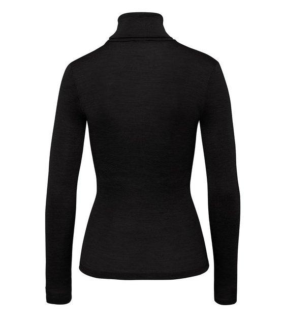 Hanro Shirt Woolen Silk 071423 Black