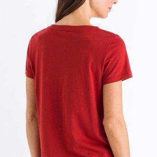 Hanro Shirt Sleep & Lounge 077876 Rusted Red