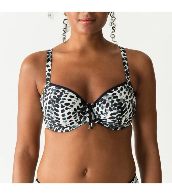 PrimaDonna Swim Bikini Top Road Trip 4004810 Blue Print