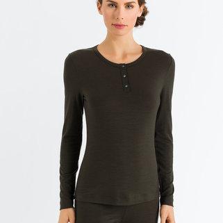 Hanro Shirt Henley Hanna 072550 Deep Forest