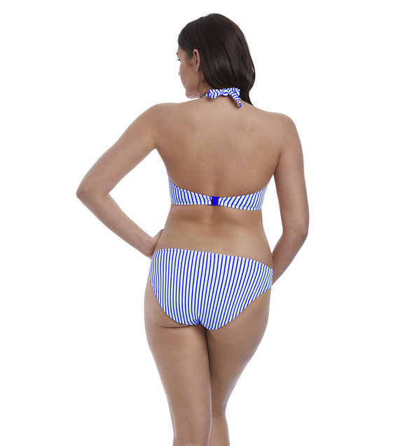 Freya Halter Bikini Top Totally Stripe AS6551 Cobalt