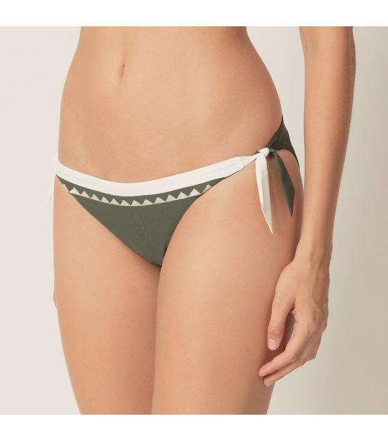 Marie Jo Bikini Slip Strikjes Gina 1001354 Dark Olive