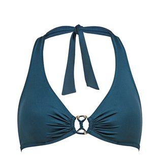 Watercult Halter Bikini Top Summer Solids 7605-052 Deep Jungle