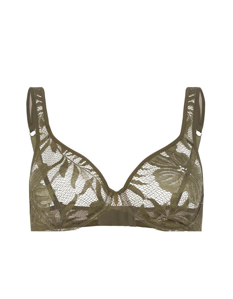 Hanro Hanro Beugel BH Lace Illusion 072502 Reed Green