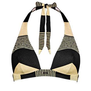 Maryan Mehlhorn Halter Bikini Top Voyage 5048-708 Black Sand