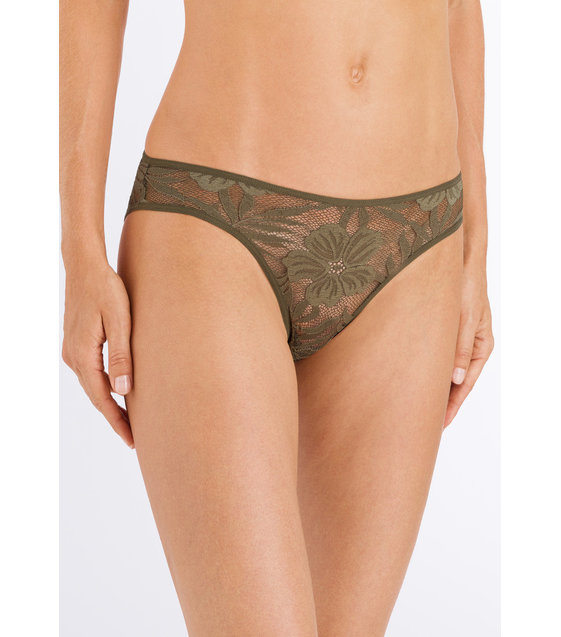 Hanro Rio Slip Lace Illusion 072508 Reed Green