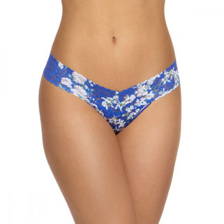 Hanky Panky Low Rise Thong 3Z1582P Blue Belle