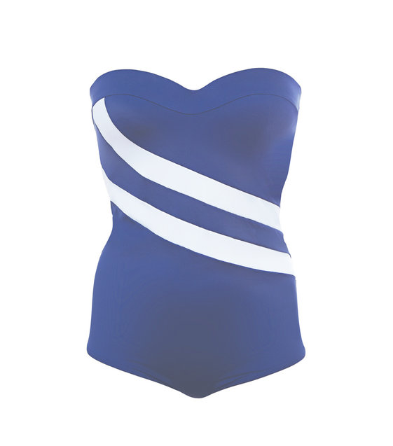 Huit Strapless Badpak Be With You 03 Blue