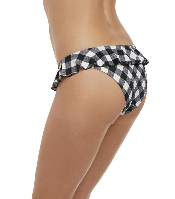 Freya Bikini Slip Totally Check AS2927 Monochrome