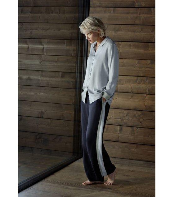 Hanro Pyjama Nori 076640-076641 Cealdon Gey - Major Blue