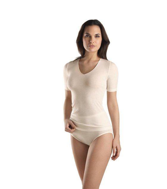 Hanro Shirt Woolen Silk 071417 cygne