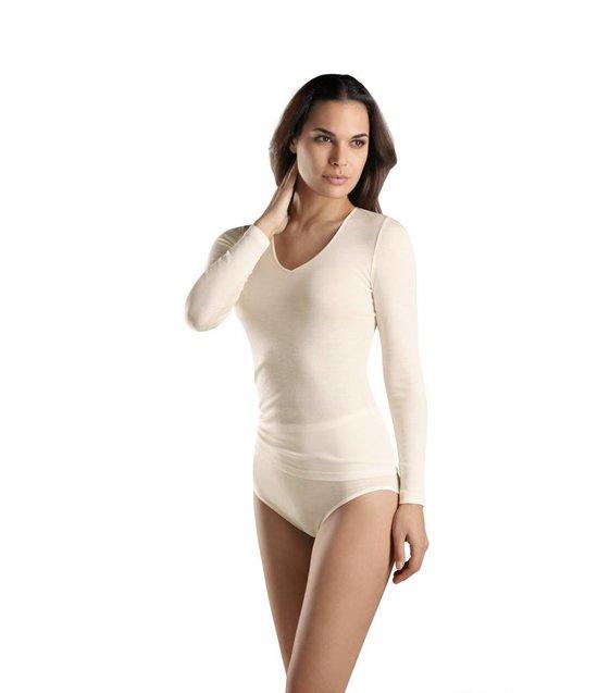 Hanro Shirt Woolen Silk 071418 cygne