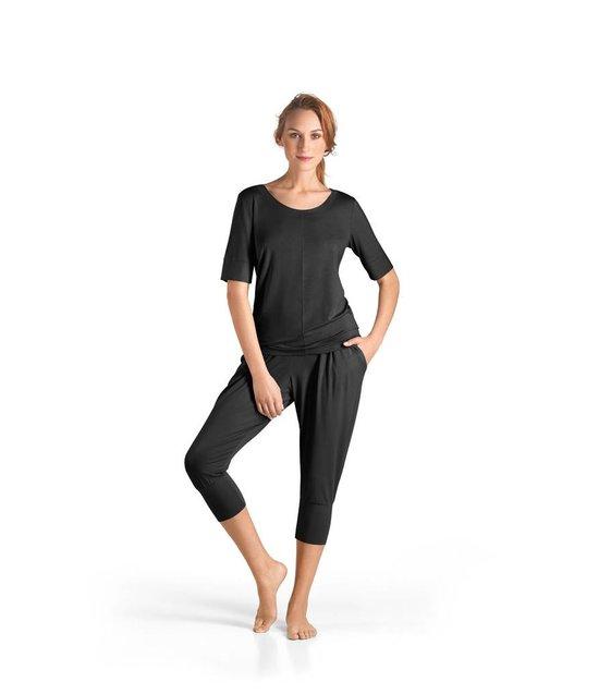Hanro Shirt Yoga 077994 black