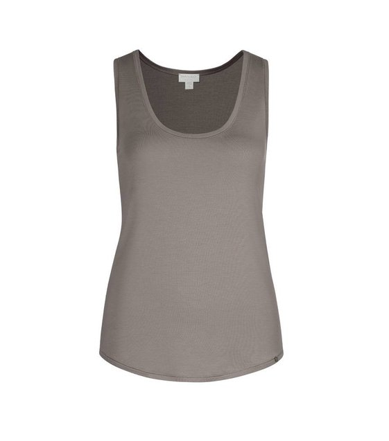 Hanro Tank Top Yoga 077995 taupe grey