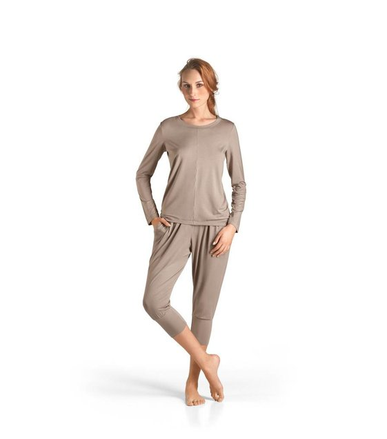 Hanro Shirt Yoga 077996 taupe grey