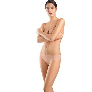 Hanro Slip Invisible Cotton 071226 chestnut