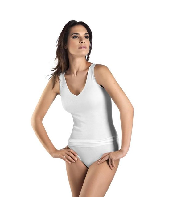 Hanro Tank Top Cotton Seamless 071602 white