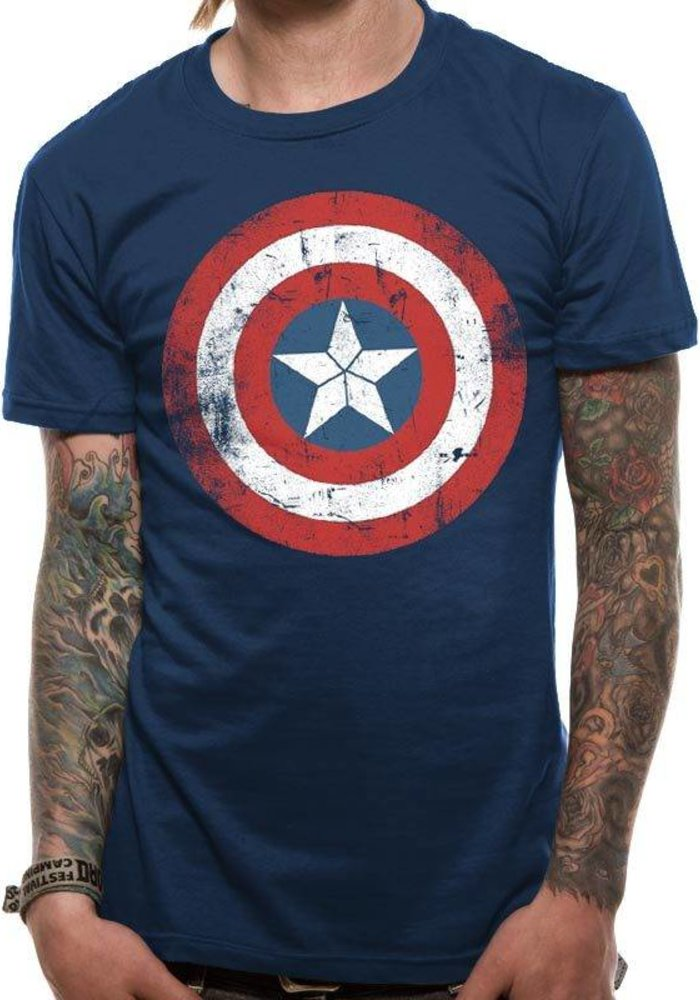 Captain America Shield Washed - T-Shirt